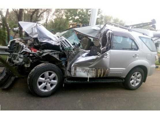 Toyota Fortuner Fails to Deploy Airbags on Collision: Company says the collision wasn't proper