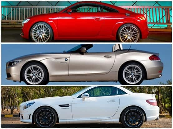 Audi 2015 TT Coupe Vs BMW Z4 Vs Mercedes SLK: Compare Price and Technical Specification