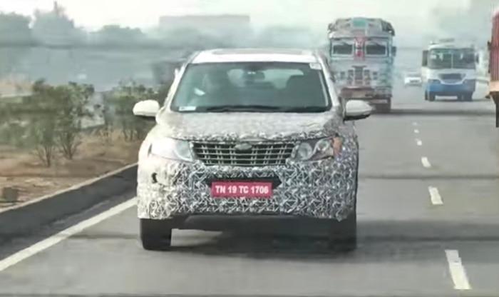 Mahindra XUV500 2018 facelift front