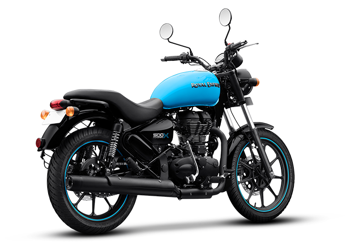 Royal Enfield Thunderbird X Drifter Blue Rear Quarter