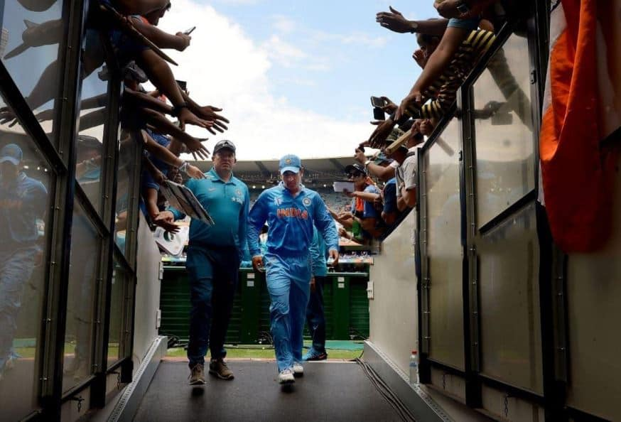 Ms dhoni out of field