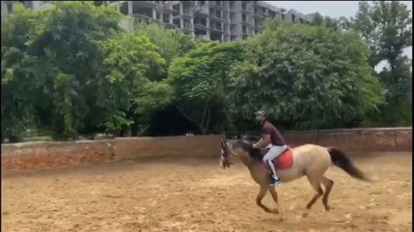 Shikhar dhawan horse riding