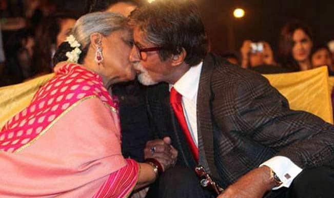 Amitabh-Jaya Bachchan kiss in public: Have they lost it?