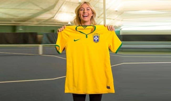 Is Maria Sharapova supporting Brazil in FIFA World Cup 2014?