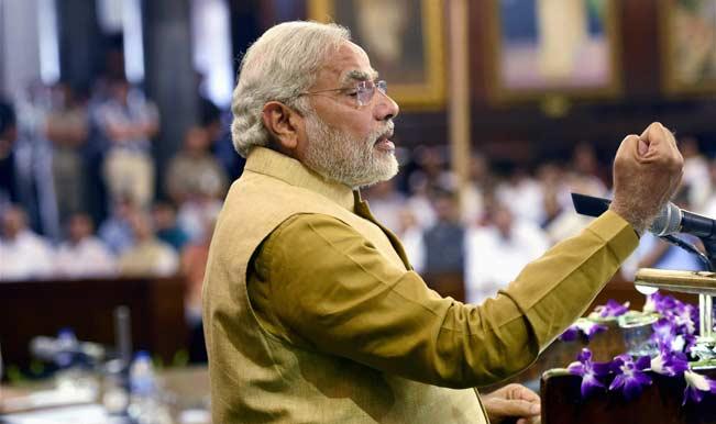 narendra-modi-addressing-media-outside-rashtrtapati-bhawan