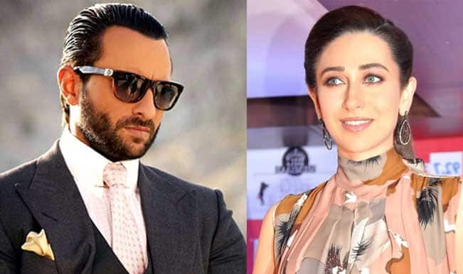 Brother- in- law Saif Ali Khan comes to Karishma Kapoor's rescue!