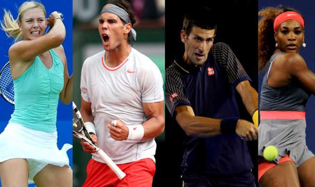 Maria Sharapova Rafael Nadal Serena Williams Novak Djokovic To Lead In International Premier Tennis League Iptl India Com