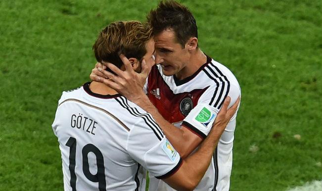 Miroslav Klose reveals message he told Mario Goetze for Germany winner