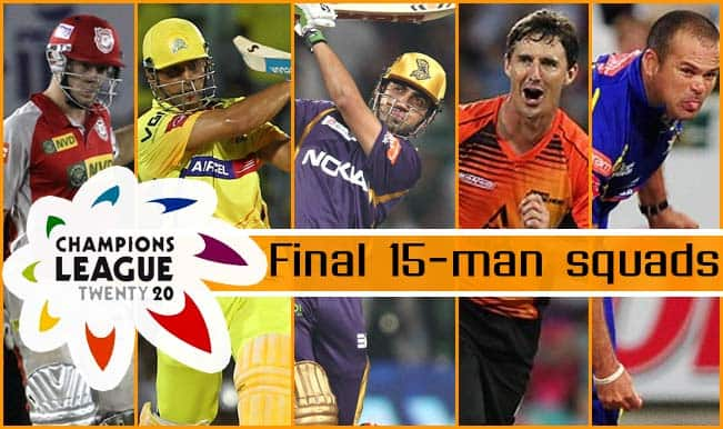 Champions League T20 2014 Complete Squads Of All Teams Of