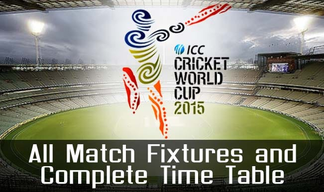 2015 Cricket World Cup Schedule Time Table Fixture Venue