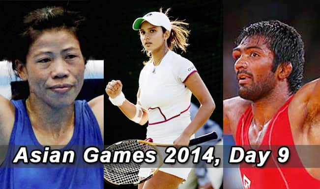 Asian Games 2014 Live Updates: Yogeshwar Dutt shines bright along with tennis stars and athletes on Day 9