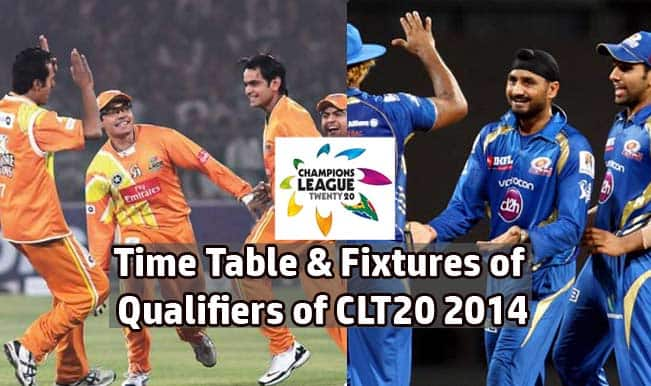 Champions League T20 2014 Schedule Time Table Fixtures Of