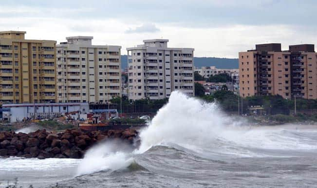 (File picture of Cyclone Hudhud)