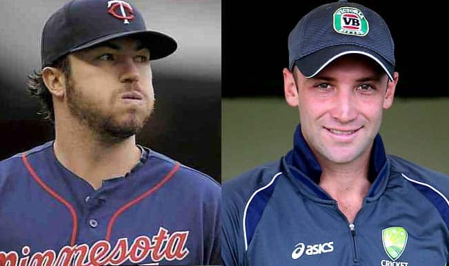 Phillip Hughes dead: Phil Hughes the baseball player sends condolence message for Phil Hughes the cricket player