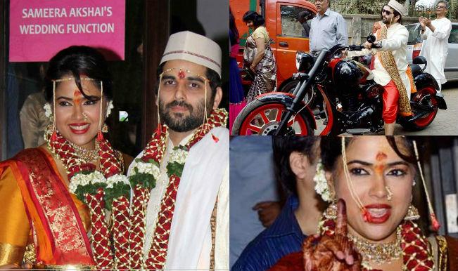 Sameera Reddy and Akshai Varde collage