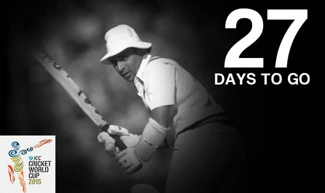 ICC Cricket World Cup 2015 Countdown Day 27: Sunil Gavaskar's only ODI century against New Zealand in World Cup 1987