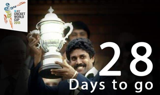 ICC Cricket World Cup 2015 Countdown Day 28: India lift 1983 World Cup, watch winning moments!