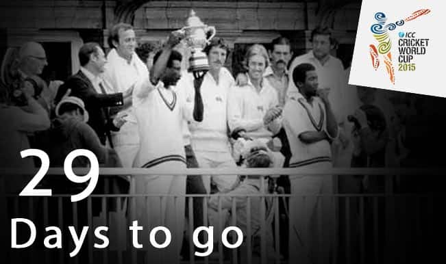 ICC Cricket World Cup 2015 Countdown Day 29: Viv Richards smashes England in 1979 World Cup Final