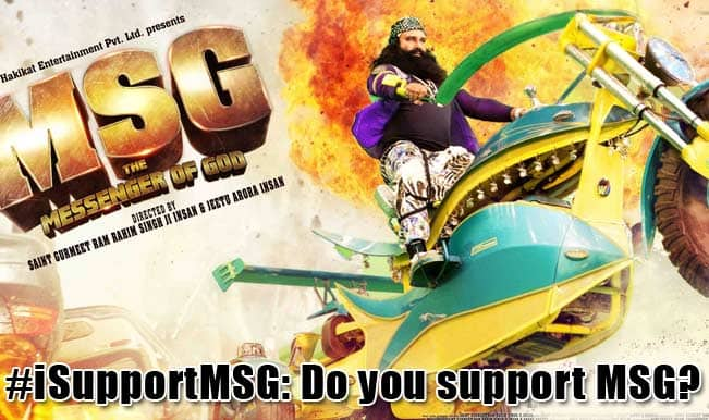 #iSupportMSG trends on Twitter: Rockstar baba Ram Rahim Singh's followers come out in support of the film