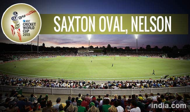 ICC Cricket World Cup 2015 Schedule at Saxton Oval, Nelson: Get Timetable and Ticket details of CWC 15 matches