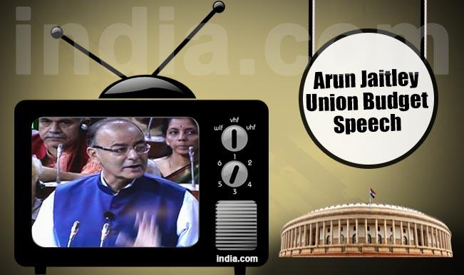 Union Budget 2015-16 Full Speech Video: Watch Finance Minister Arun Jaitley presenting his Budget Speech for India