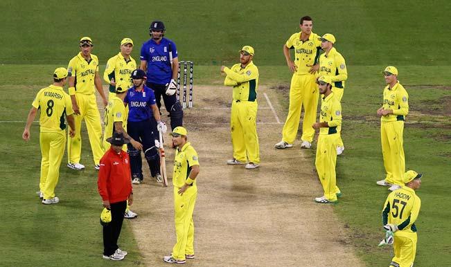 ICC Cricket World Cup 2015: James Taylor's misses century as controversial umpiring decision mars Australia vs England clash
