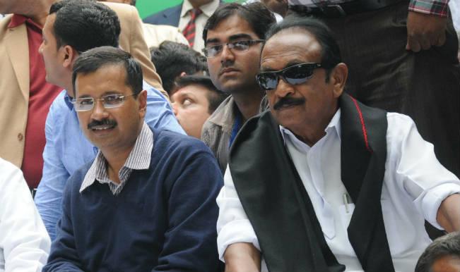Vaiko meets Arvind Kejriwal, stresses on full statehood to Delhi, Puducherry