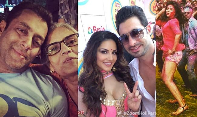 Salman Khan, Sunny Leone and the Bachchans enjoy Holi; but why is Katrina Kaif sulking?