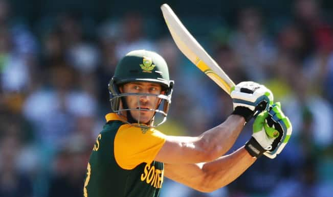 Faf du Plessis hits 100! South Africa vs Ireland ICC World Cup 2015: Watch Video Highlights of century