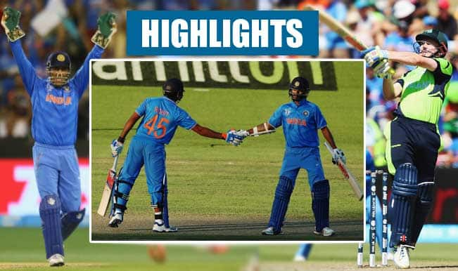 India vs Ireland, ICC Cricket World Cup 2015: Shikhar Dhawan's 100, MS Dhoni's record win among top highlights of IND vs IRE