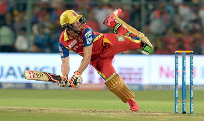 AB de Villiers and his love affair with unusual shots continues! Watch Video