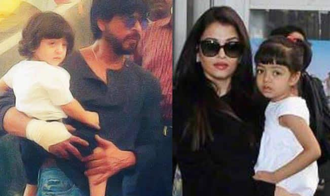 Shah Rukh Khan-AbRam and Aishwarya Rai Bachchan-Aaradhya: View adorable pics of Baby's Day Out!