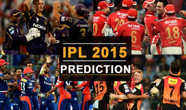 IPL 2015 Day 32: Today's Prediction, Current Points Table and Schedule for upcoming matches of IPL 8