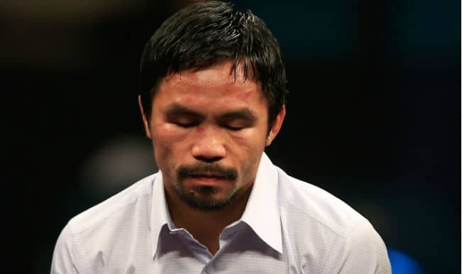 Manny Pacquiao camp alleges denial of 'anti-inflammatory injection' cost win over Floyd Mayweather