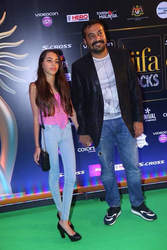 Anurag Kashyap at IIFA with his daughter Aaliyah