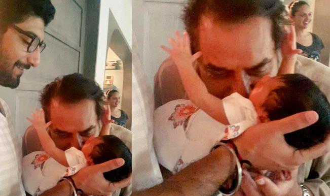 Esha Deol posts photo of nephew Darien Vohra being kissed by Dharmendra!