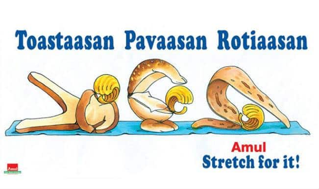 World Yoga Day: Amul gives its 'hat ke' take! Twitter goes abuzz with Amul Coop
