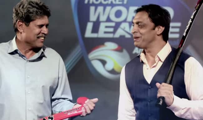 Shoaib Akhtar, Kapil Dev face-off in the latest Start Sports ad ahead of India vs Pakistan 2015 hockey match