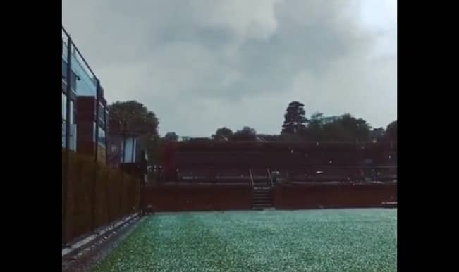 Wimbledon 2015: Surprise Hailstorm, 2 weeks ahead of the most loved tennis tournament!