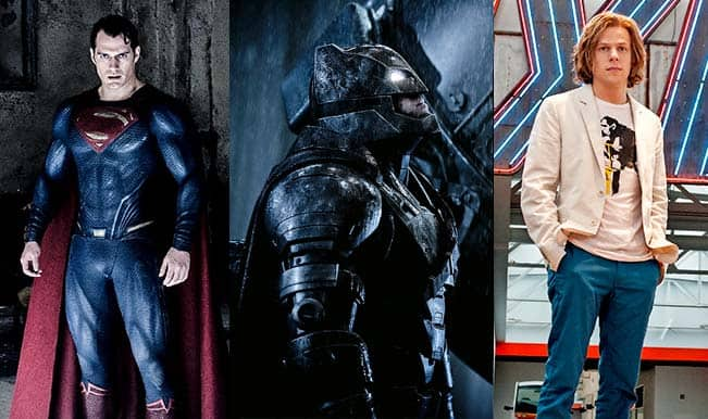 Batman v Superman: Dawn of Justice movie pictures revealed: Henry Cavill, Ben Affleck and Jesse Eisenberg look stunning!