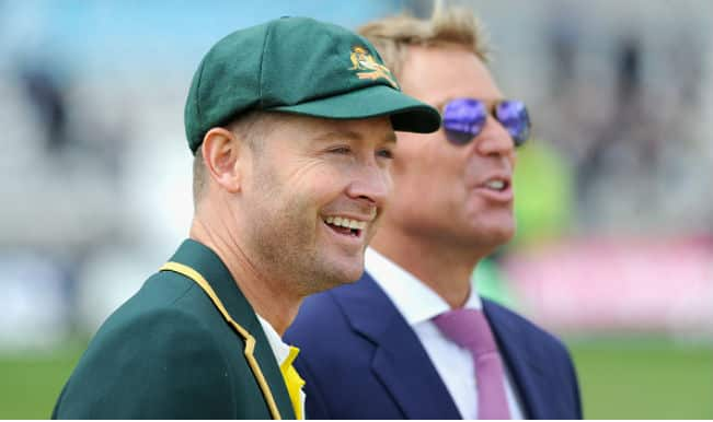Success not sex! Watch Michael Clarke's slip of the tongue moment