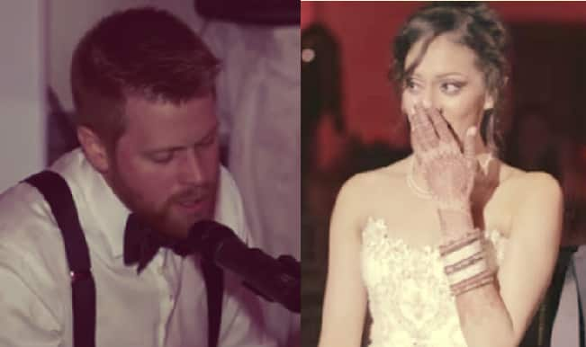 Awwww: Canadian man sings Tum Hi Ho for his bride at their wedding!