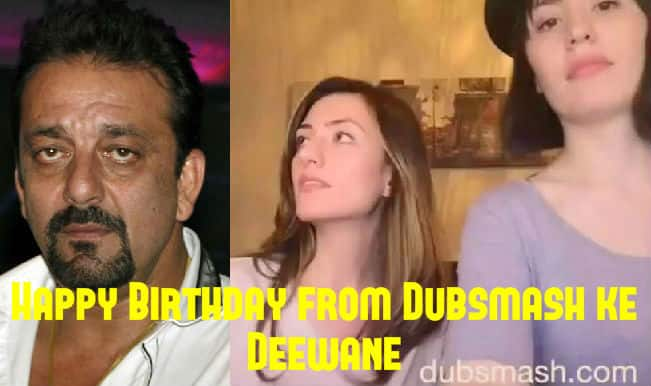 Sanjay Dutt Birthday special: The two German girls are back with their new Dubsmash video for the actor