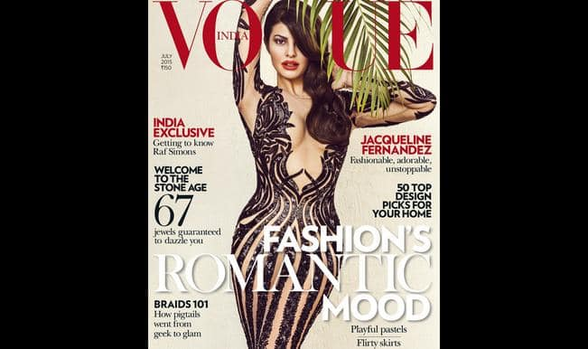 Vogue July 2015: Jacqueline Fernandez oozes oomph and confidence on cover!