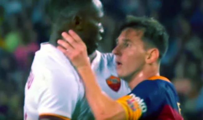 Lionel Messi headbutt: Barcelona vs Roma pre-season friendly match isn't very friendly