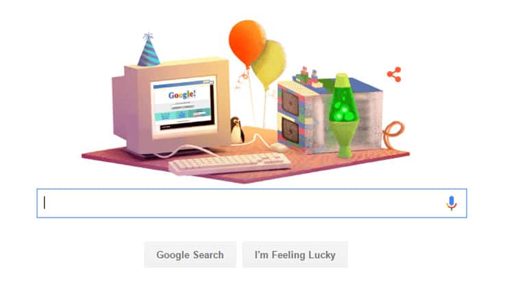 When is Google's birthday? Google Doodle celebrates 17 years of the search engine
