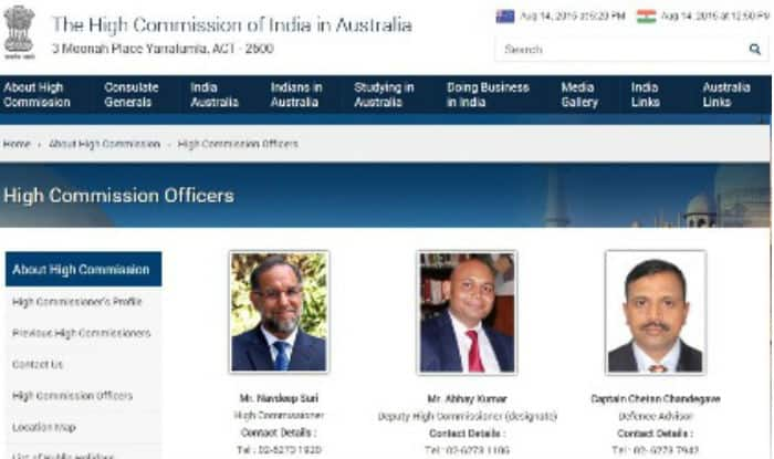Abhay K appointed India's Deputy High Commissioner to Australia
