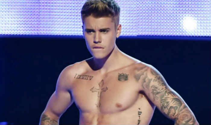 Justin Bieber chooses see-through undie for glacier dip