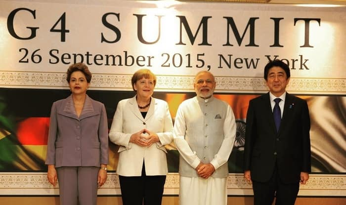 PM Narendra Modi hosts G4 Summit in New York (Full speech text and video)
