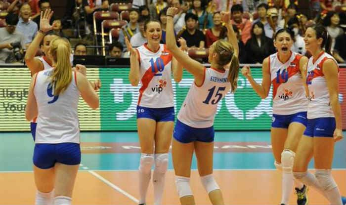 Russian women volleyball team take European title